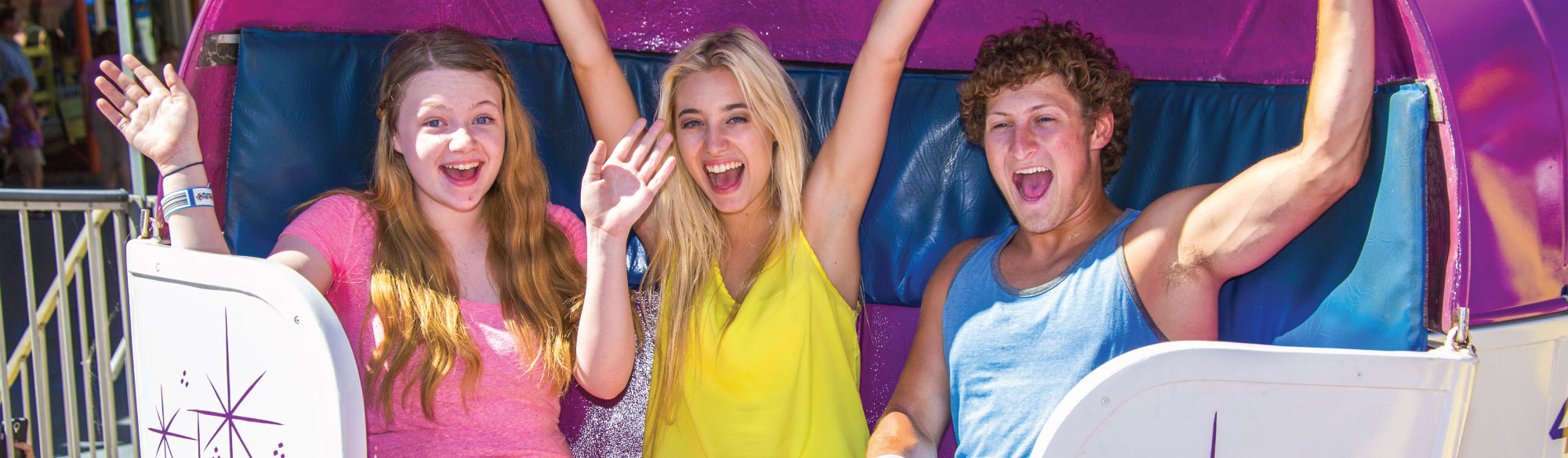 Teens on ride